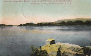 PORT JERVIS, New York, PU-1907; Tri States Rock, Meeting Point Of NY, NJ & PA
