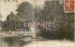 Postcard Old Vichy Water Jet Swan