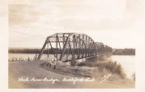 RP: Sask. River Bridge, Battleford's, Saskatchewan , Canada , 20-40s