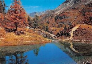 Switzerland Arolla Lac Bleu, Blue Lake Landscape