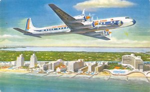 Eastern Airlines Golden falcon DC – 7B Airplane Unused