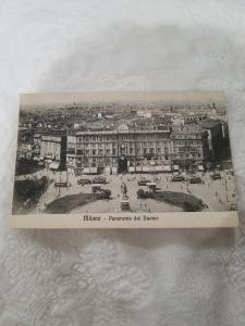 Antique Postcard from Italy, Milano - Panorama dal Duomo