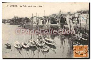 Postcard Ancient Pornic Port Maree Basse