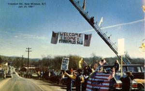 U.S. Military, January 25, 1981. Iran Hostages Welcomed Home enroute to West ...