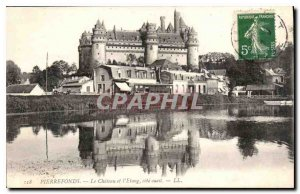 Old Postcard Pierrefonds Chateau Pond and West Coast