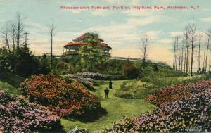 Highland Park Rochester New York - Rhododendron Path and Pavilion - pm 1912 - DB