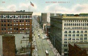 NY - Buffalo. Main Street circa 1900, Trolleys