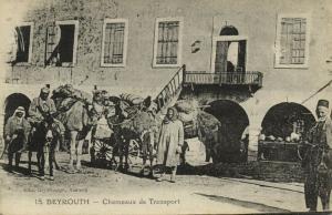 lebanon, BEIRUT BEYROUTH, Chameaux de Transport, Camel (1920s) Deychamps 15