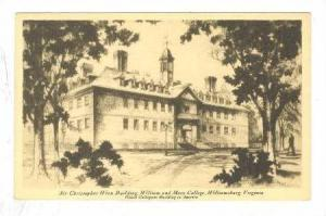 Sir Christopher Wren Building, William and Mary College, Williamsburg, Virgin...