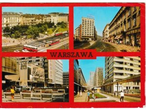 Post Card Poland Warszawa Warsaw 4 views