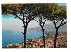 Italy Sorrento Panorama Birds Eye View Vntg Postcard 4X6