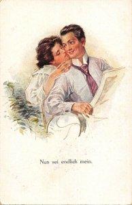 US2944 Nun sei Endlich Mein Couple Postcard germany couple goals  flirt love