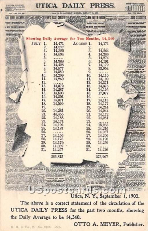 Utica Daily Press Utica NY 1903