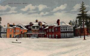 Brett Hospital, Banff, Alberta, Canada, Early Postcard, Unused