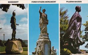 Massachusetts Plymouth Massasoit Indian Forefathers & Pilgrim Maiden Famous M...
