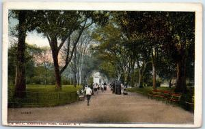 Albany, New York Postcard Elm Walk, WASHINGTON PARK Valentine 1916 Cancel
