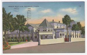 Bradley Beach Club Palm Beach Florida postcard