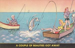 Fishing Humour Beautiful Girls In Boat A Couple Of Beauties Got Away