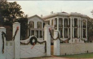 Louisiana White Castle Nottoway Plantation At Christmas Time