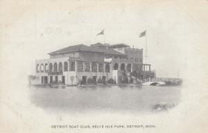 DETROIT, Michigan, 1901-07 ; Belle Isle Park , Boat Club
