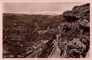 lebanon, BCHARRÉ BSHARRI, General View (1952) RPPC Postcard