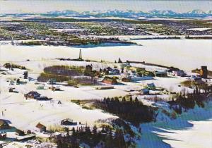 Canada Winter Scene Heritage Park Calgary Alberta