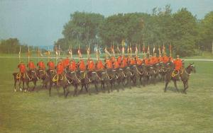 Offier leads the formation during manoeuvres, Musical Ride of the Royal Canad...