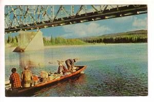 Loaded Riverboat, Liard Bridge, Yukon, Yukon, Photo R Couture