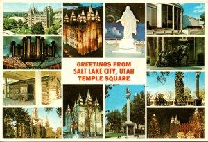 Utah Salt Lake City Greetings Temple Square Multi View 1993