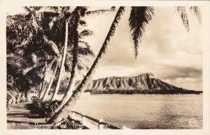 Hawaii Honolulu Diamond Head Real Photo sk1610