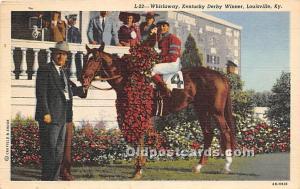 Whirlaway, Kentucky Derby Winner Louisville, Kentucky, KY, USA 1949