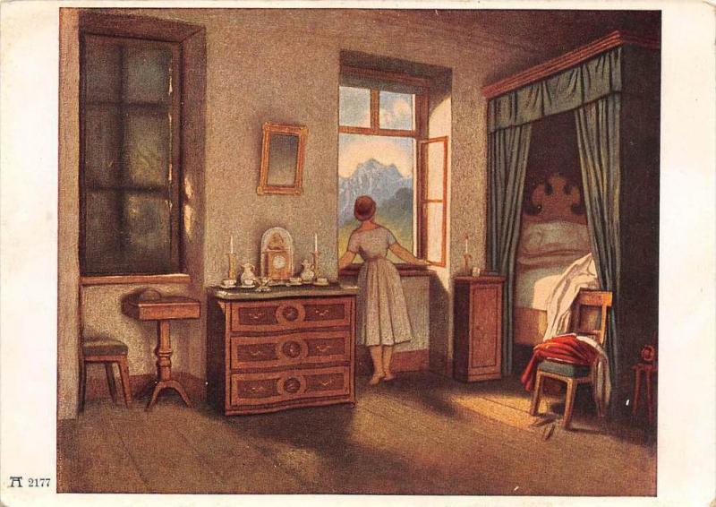 13873    F.A. Ackermanns Kunstverlag, Munchen M.v.Schwind  Morning Hour