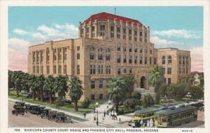 Arizona Phoenix Maricopa County Court House and City Hall Curteich