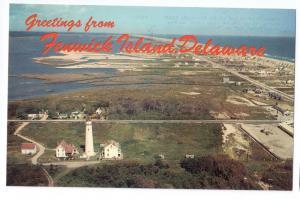 Greetings Fenwick Island Delaware DE Aerial View