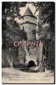 Old Postcard The vleux Fougeres Chateau La Tour Hallay Children