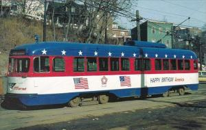 Port Authority Transit Trolley #1791 With Bicentennial Colors December 1976 S...