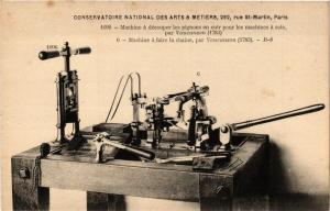 CPA PARIS (3e) Cnam - Machine á découper les pignons (215194)