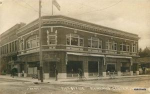 C-1910 Richland Center Wisconsin Post Office RPPC Real photo Bicycle 8780