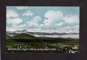 NC Battery Park Hotel View Pisgah Mts Asheville North Carolina Postcard