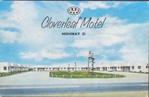 Clanton AL - CLOVERLEAF MOTEL on Hwy 31  1950s