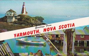 Canada Nova Scotia Yarmouth Greetings From Yarmouth Nova Scotia