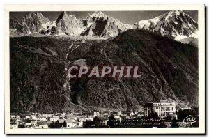 Old Postcard Chamonix Mont Blanc and the Chaine des Aiguillles