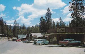 BASS LAKE, California, 1950-1960's; The Pines Village, Classic Cars