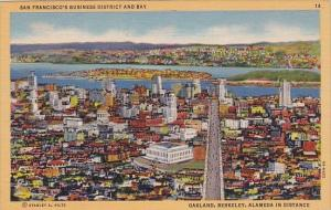 San Francisco's Business District And Bay San Francisco California