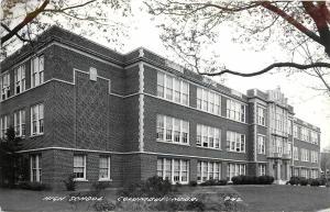 1930-1950 Real Photo Postcard High School, Columbus NE, LL Cook P42 Platte Co.