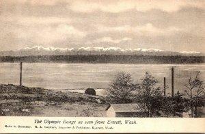 Washington The Olympic Range As Seen From Everett