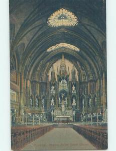 Unused Divided-Back NOTRE DAME CHURCH INTERIOR Montreal Quebec QC A8496