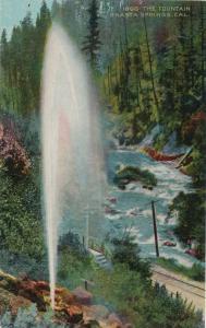 Fountain and Railway at Shasta Springs CA, California - DB