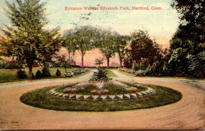 Connecticut Hartford Elizabeth Park Entrance Walk 1915