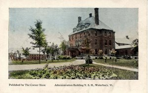 VT - Waterbury. Vermont State Hospital, Administration Building